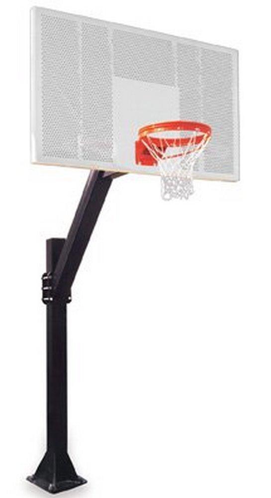 最初チームLegend intensity-bp steel-aluminum in ground固定高さバスケットボールsystem44 ;レンガレッド   B01HC0D6RY