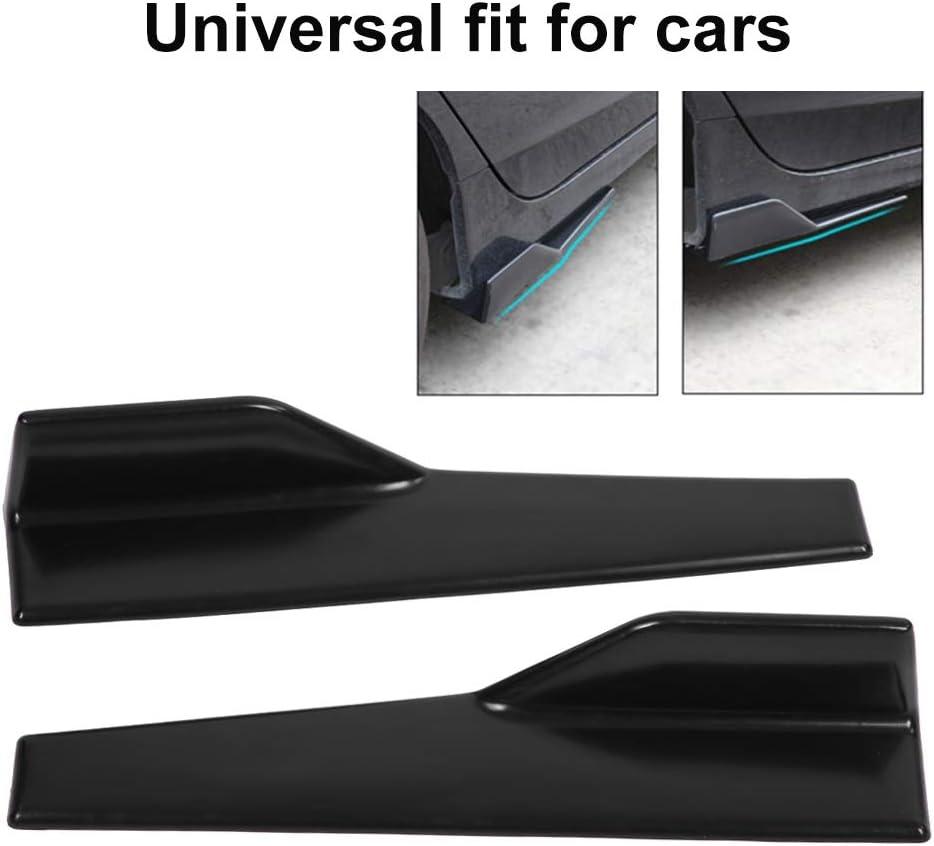 EVGATSAUTO 2 minigonne laterali per auto minigonna laterale nera lucida universale con bilanciere divisore Winglet Wings Diffusore canard
