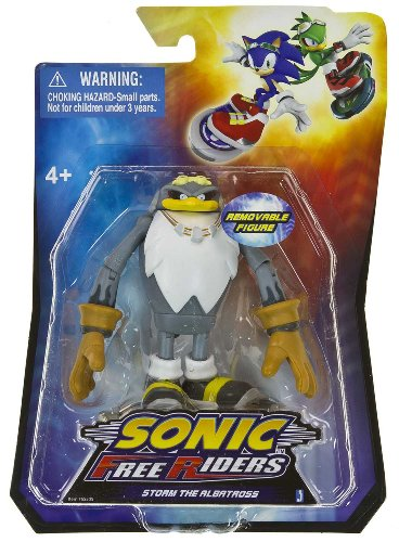 "Storm the Albatross ~3.5"" Mini Action Figure + Finger Board: Sonic Free Riders Series"