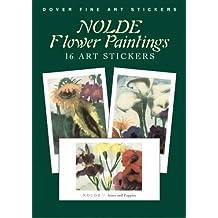 Nolde Flower Paintings: 16 Art Stickers