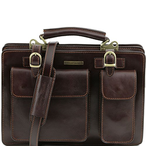 Tuscany Leather - Tania - Damenhandtasche aus Leder - Gross Honig - TL141269/3 Dunkelbraun p9l2hsIZ