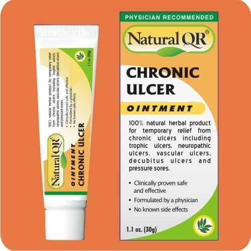 NaturalQR® Chronic Ulcer Ointment, 30gm Tube