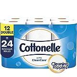 Cottonelle Ultra CleanCare Toilet Paper, Strong Bath Tissue, 12 Double Rolls