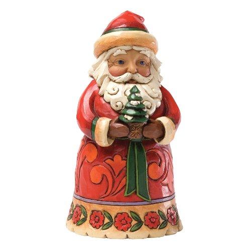 Enesco Jim Shore Heartwood Creek Pint Sized Santa with Tree Figurine, 5-Inch