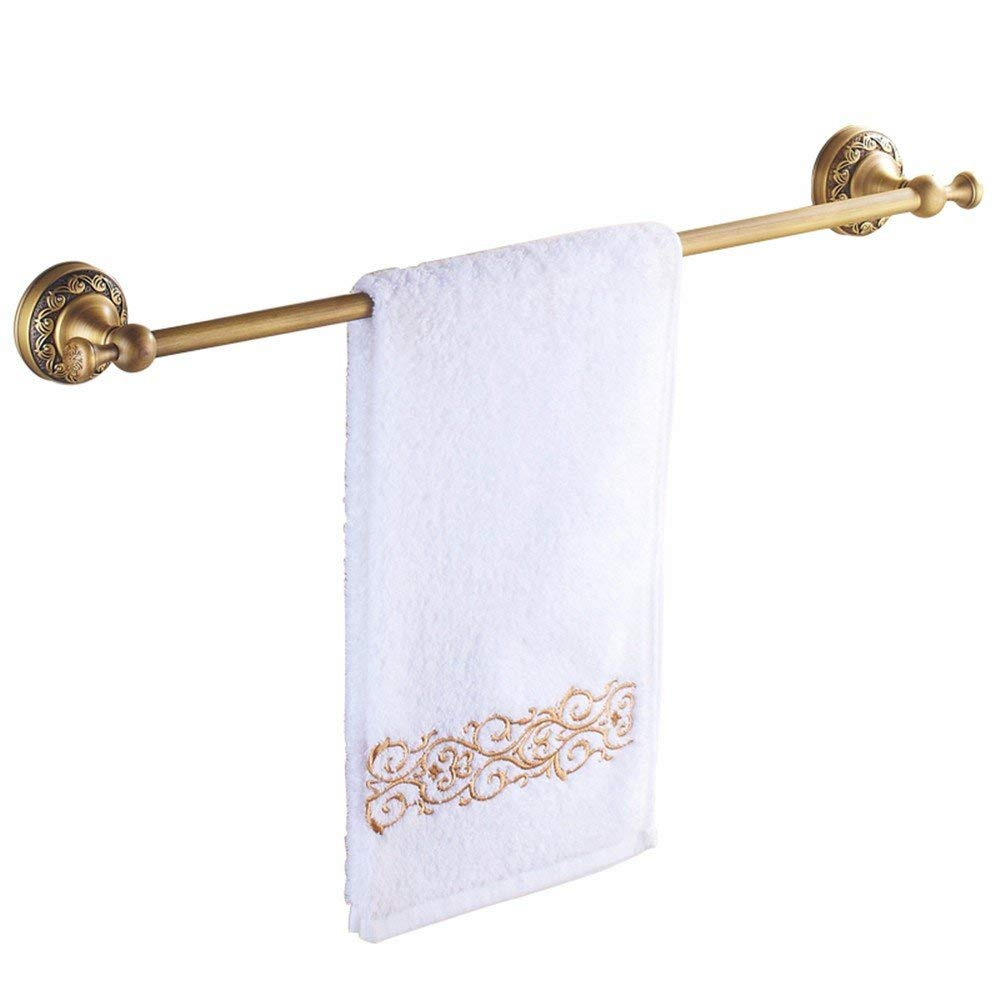 40cm Towel Rack All Copper Retro European Style Carved Towel Rack Towel bar Bathroom Hardware Pendant,60cm Bathroom Towel Shelf (color   40cm)