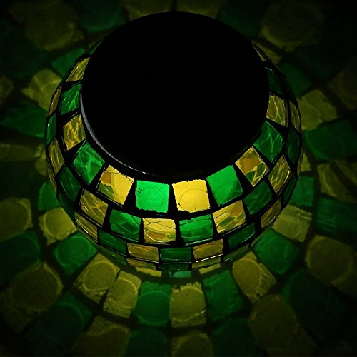 Dream Loom Solar Powered Mosaic Glass Ball Color Changing...