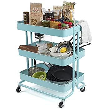 Charmant Multipurpose Rolling Utility Cart Ideal For Arts And Crafts Bar Storage  Kitchen Bathroom Or Nursery Metal