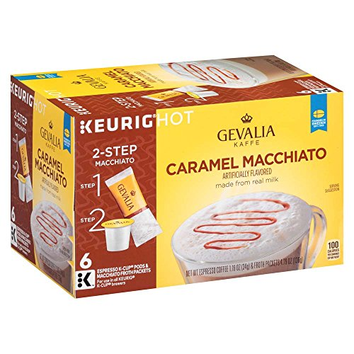 Gevalia Caramel Macchiato Espresso Coffee with Froth Packets, K-Cup Pods, 6 Count (Pack of (Espresso Caramel)