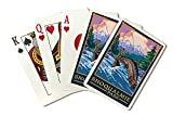 Snoqualmie Pass, Washington - Angler Fly Fishing Scene (Playing Card Deck - 52 Card Poker Size with Jokers)