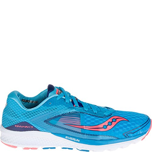 Saucony Women's Kinvara 7 Running Shoe, Pink/Purple/Blue, 7 M US