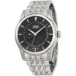 Oris Artelier Pointer Date Black Dial Stainless Steel Mens Watch 01 744 7665 4054-07 8 22 77