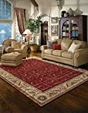 "Nourison Somerset (ST02) Red Rectangle Area Rug, 5-Feet 3-Inches by 7-Feet 5-Inches (5'3"" x 7'5"")"