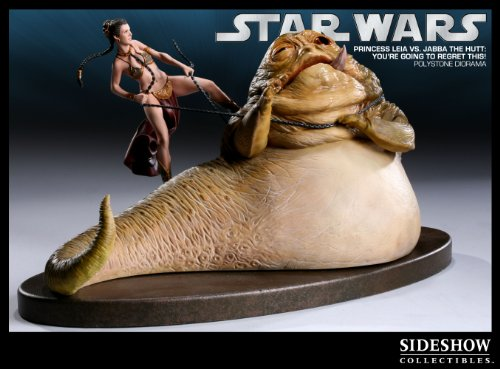 'You're Going To Regret This' - Princess Leia Vs. Jabba the Hutt Diorama