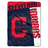 "Officially Licensed MLB Cleveland Indians Strike Plush Raschel Throw Blanket, 60"" x 80"""