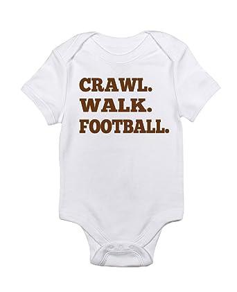 Amazon com: Baby's Crawl Walk Football onesie: Clothing