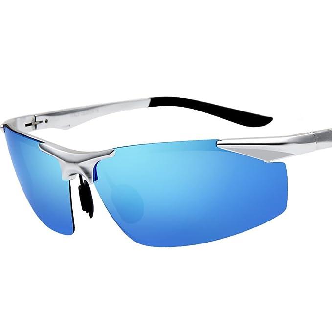 Kennifer Gafas de sol Polarizadas de los Hombres de la Manera Rectangular que Conduce la Pesca