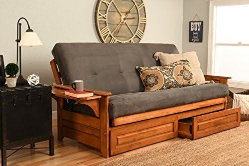 Kodiak Furniture Phoenix Futon, Full Size, Suede Gray