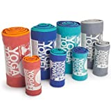 YogaRat 100-Percent Microfiber Yoga Towels, Hand Size (15-Inch X 24-Inch), Purple/Black