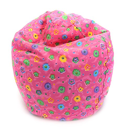 Junior Print Bean Bag, Pink Flower