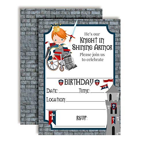 - Knight in Shining Armor Birthday Party Invitations, 20 5