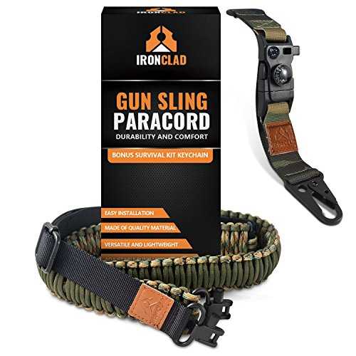 Buckle Sling - Camouflage Rifle Sling with Free Survival Kit Keychain - 43