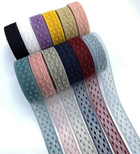 LGCD 5ヤード/ロット15ミリメートル レースリボン刺繍レースファブリックのスカートアクセサリートリム装飾手作りソーイングファブリック (Color : 10)