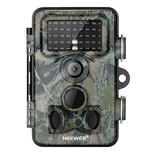 Neewer Trail Game Camera 16MP 1080P HD Digital Waterproof Hunting Scouting Cam 120 Degree Wide Angle Lens with 0.3s Trigger Speed Motion Activated Night Vision for Wildlife ()