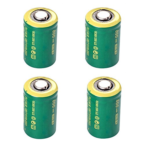 IORMAN 4-Pack Universal 800mAh CR2 Rechargeable Lithium Batteries for Photo Camera Laser Flashlight