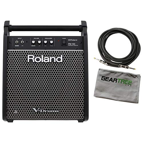Roland PM-100 Personal 80-Watt Drum Monitor Bundle w/Cable and Geartree Cloth