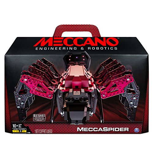 Meccano-Erector - MeccaSpider Robot Kit for Kids to Build, STEM Toy with Interactive Built-in Games and App, Infrared Remote Control