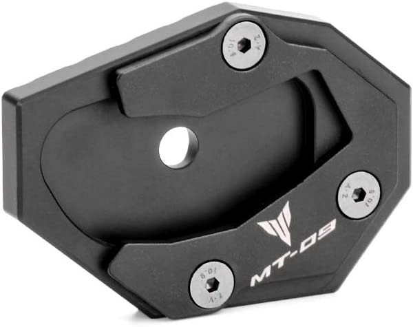 Oldbones CNC Aluminum Side Kickstand Stand Extension Plate For Yamaha MT09 Side Foot Plate Black