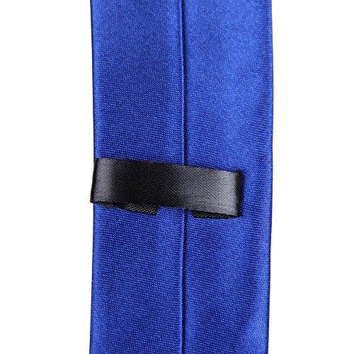 Color Smooth Silk Polyester Cravatta Tie Neck Man's Ecotrump Blue Dark Solid xdXIt8S