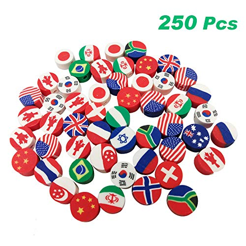 National Flag Beads Polymer Clay Loose Beads Mixed International Flag Spacer Beads DIY Bracelet Beaded Jewelry Materials, 250Pcs