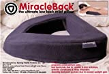 Miracle Back - Doctor Recommended Premium Chiropractic Pillow for Lower Back Pain and Sciatica Relief - Fast, Comfortable, Easy and Effective for Disc Injuries, Muscle Spasms and Injuries. Chiropractic Pregnancy Pillow and Great for Stomach Sleepers