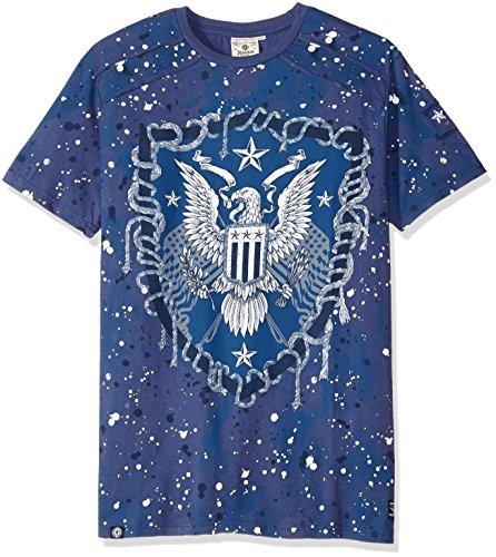 hombre de Camiseta alta y Hoorah para Kectelly Slub grande azul wzaFxqPzY
