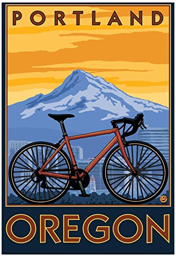 Portland, Oregon, Mountain Bike Scene Poster