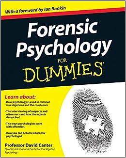 Forensic Psychology For Dummies por David D. Canter epub