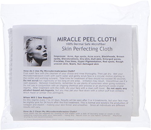 Home Facial / Body Skin Microdermabrasion Exfoliation Scrub Treatment - Safe and Effective - Wash and Reuse Over and Over by Sheer Miracle