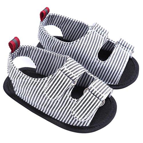 Sandalias Bebe,Tefamore Sandalias Zapatos De Bebé Niño Recién Nacido Suave Suela Antideslizante Zapatillas Primavera y Verano negro