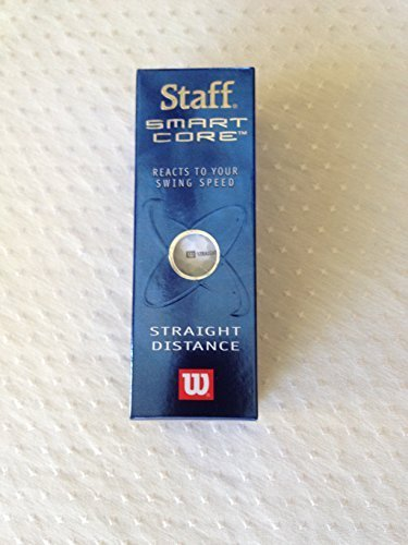 Titanium Straight Distance Golf Balls - Wilson Staff Smart Core Straight Distance Golf Balls - Sleeve of 3 Golf Balls