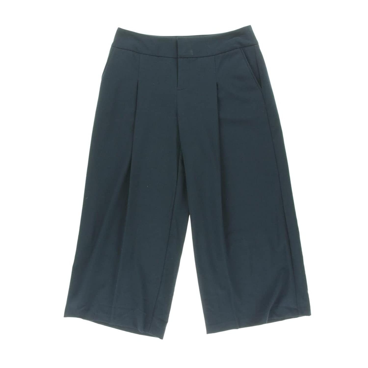 INC International Concepts Pleated Front Gaucho Pants (Navy, 14)