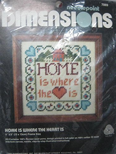 Heart Needlepoint (Dimensions home is where the heart is needlepoint)