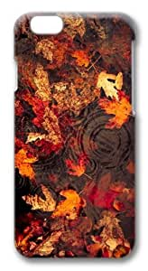 iPhone 6 Case, iPhone 6 Cases -Leaves Floating On The Lake Custom PC Hard Case Cover for iPhone 6 3D