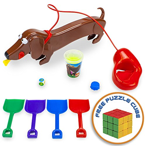 (Goliath Games Doggie Doo The Super Pooper Scooper Game with Free Brybelly Puzzle Cube)