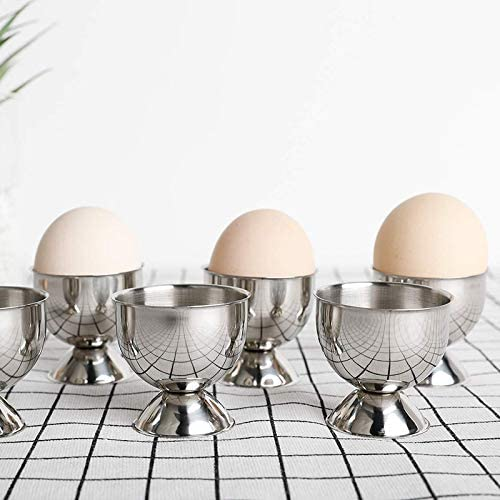 Tiamu Egg Cup Tray Stainless Steel Soft Boiled Egg Cup Holder Can Be Made Of Small Wine Glasses 6 Sets