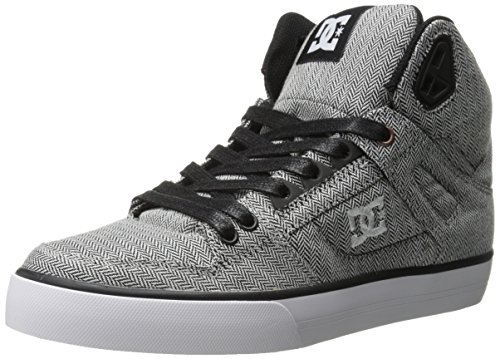 DC Men's Spartan High WC TX SE Skate Shoe, Grey/Grey/Black, 10 M US - Dc Shoes High For Kids