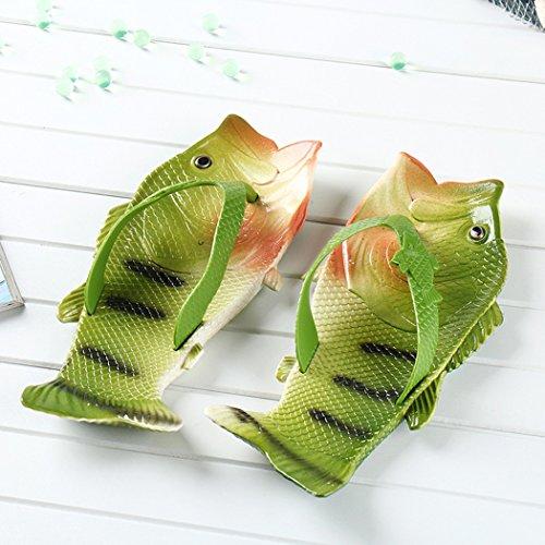 VENI MASEE Fish Flip Flops Fish Slippers Beach Slides Sandals Men Women Kids Summer 7 Colors(24-45) Brown M92oYF3
