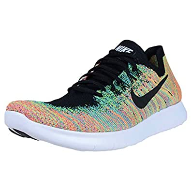 Nike Free RN Flyknit 2017 Mens Running Trainers 880843 Sneakers Shoes (UK 7.5 US 8.5 EU 42, Black Blue Lagoon 005)