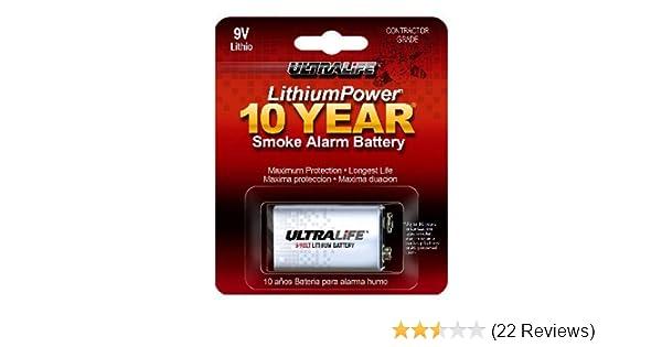 Amazon.com: Ultralife U9VLJPXC Lithium Battery, 9V, For Smoke/CO Detector - 1 Piece Retail Card: Home Improvement
