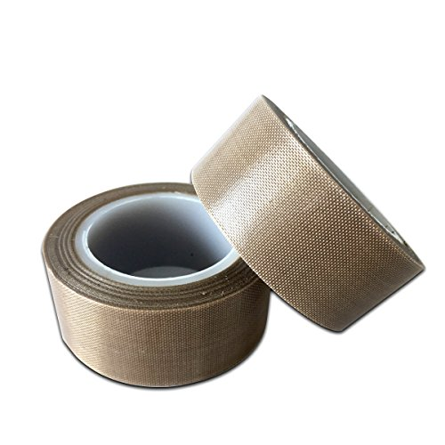 PTFE Fabric Tape | PTFE Vacuum Machine Sealing Tape With Adhesive Made by Saint Gobain SG25 03 Pack of 2